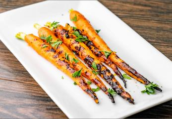 Grilled Carrots on a plate