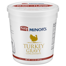 13.6 oz Container of Minor's Turkey Gravy Concentrate
