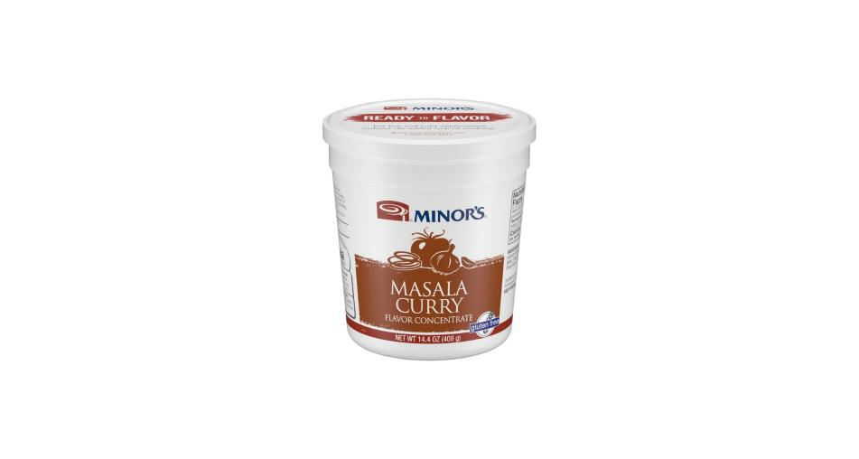 14.4 oz container of Minor's Masala Curry flavor concentrate