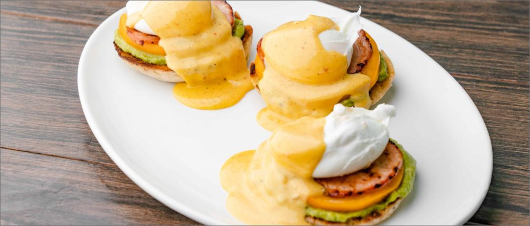 Three Latin Benedicts on a plate
